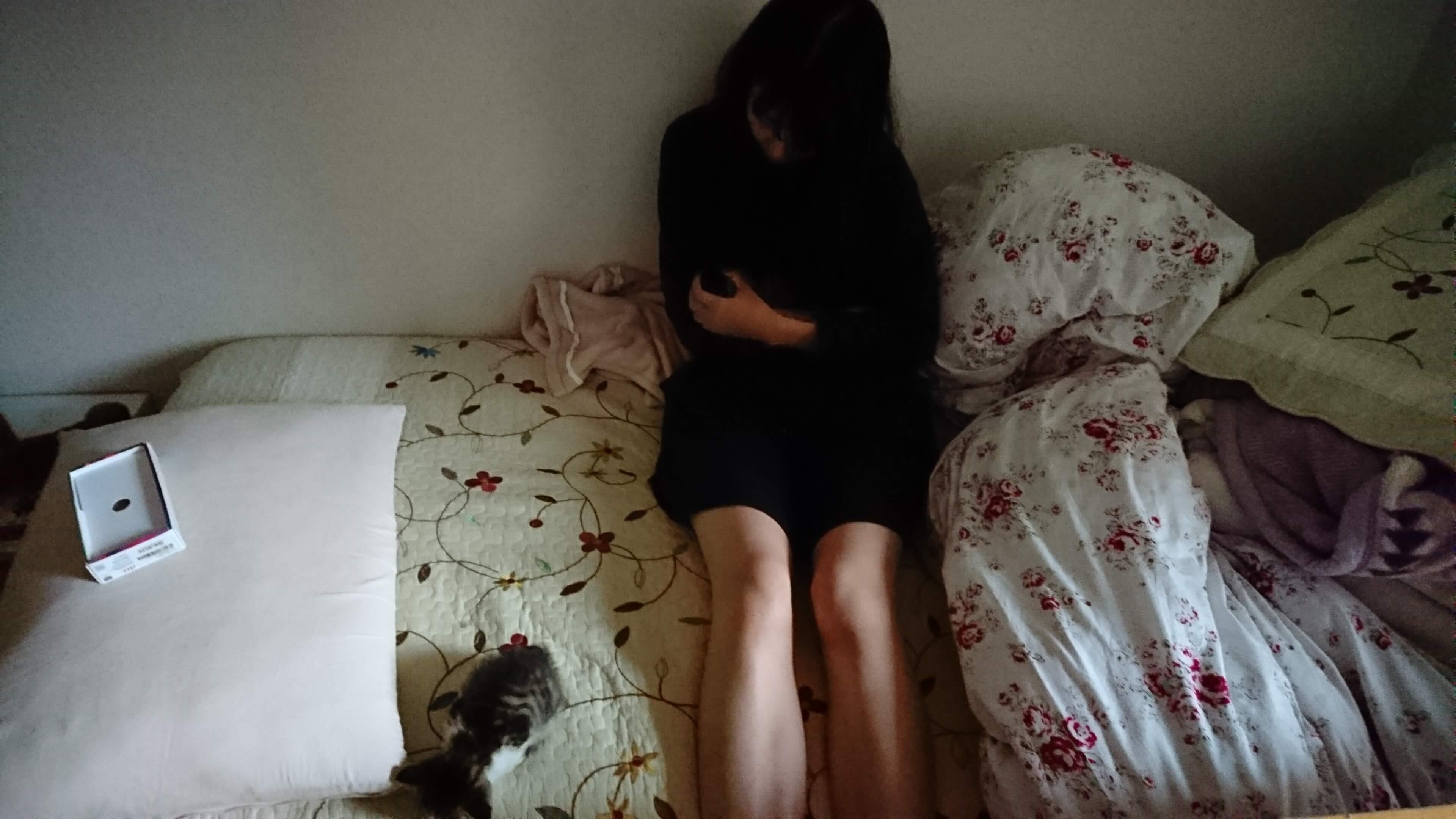 女性と子猫