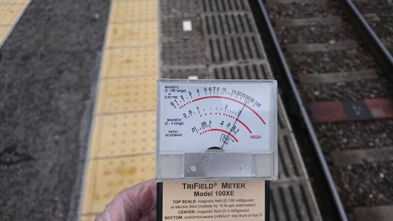 駅のホームの電磁強度