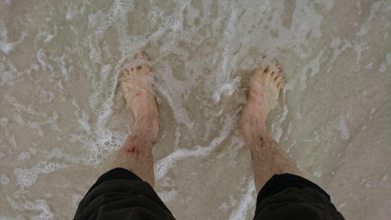 海水でアーシング